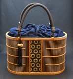 "Suruga bamboo fine stripe work: Handbag ""Aoi"" very much"