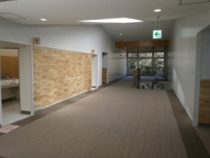 New building lobby which became new